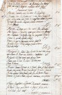 VP816 - GAGNY 1809 - Mémoire D' Ouvrages Pour Le Compte De Mr DEVIES Boulanger à CHELLES - Facturas & Documentos Mercantiles