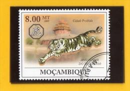 MOZAMBIQUE ,, ANO  LUNAR  DO  TIGRE  2010 ,,, CITADE  PROIBIDA  ,,,  **  8 .00  MT  **,,, POSTE 2009 ,,, TBE - Mozambique