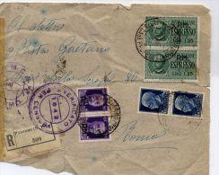 P1 POSTA MILITARE COPPIA ESPRESSO 1.25 COPPIA IMPERIALE CON FASCIO 1.25 COPPIA 50 CENT CON FASCIO VERIFIC. PER CENSURA - 5. 1944-46 Luogotenenza & Umberto II