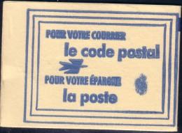 POSTE - CARNET NEUF POUR VOTRE COURRIER LE CODE POSTAL POUR VOTRE EPARGNE LA POSTE. - Commemorative Labels