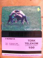 Magnetic Phone Card From Turkey, Wrestling - Turchia