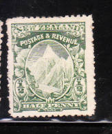 New Zealand Mt Cook 1/2p Used - 1855-1907 Crown Colony