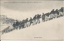 Manoeuvres D'hiverdes Batteries Alpines à BEUIL (A.M.) - Autres Communes
