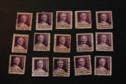 Canal Zone 117 General George Washington Goethals Cancelled 15 Copies Some Straight Edge WYSIWYG 1934 A04s - Stamps