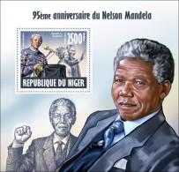 NIGER 2013 NELSON MANDELA QUEEN ELIZABETH S/S MNH - Famous People
