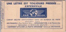 POSTE - CARNET UNE LETTRE EST TOUJOURS PRESSEE EXPEDIEZ-LA - CARNET NEF VIGNETTE AVION. - Commemorative Labels