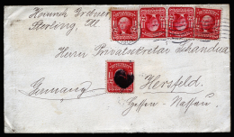 A2523) US Cover From Chicago 09/22/1904 To Hersfeld / Germany With Multifranking - Vereinigte Staaten