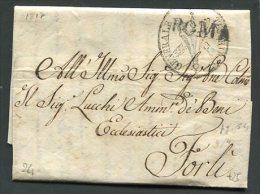 1817  RARA PREFILATELICA DA ROMA  TESORERIA  GENERALE  X  FORLI'  INTEGRO IL SUO TESTO - 1. ...-1850 Prefilatelia