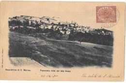 SAN MARINO-REPUBBLICA DI SAN MARINO PANORAMA VEDUTA DAL LATO OVEST - Saint-Marin
