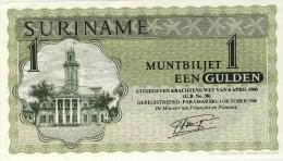 BILLET # SURINAM # 1 GULDEN  # 1986 # PICK 23 E # NEUF # - Surinam