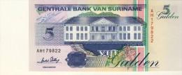 BILLET # SURINAM # 5 GULDENS  # 1996 # PICK 46 # NEUF # - Surinam