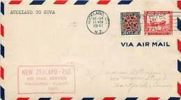 1941 First Flight  New Zealand To Fiji - 1907-1947 Dominion