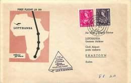 1962  First Flight Lufthansa  Nairobi To Khartoum, Sudan - Kenya, Uganda & Tanganyika