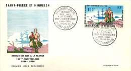 1966  150è Ann. Retour Des Iles à La France  Yv  PA 36 - FDC