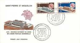 1970 Nouveau Siège De L'UPU Yv 399-400  Série Omnibus - FDC