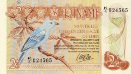 BILLET # SURINAM # 2 1/2 GULDENS  # 1995 # PICK 24 A C # NEUF # - Surinam