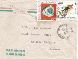 Madagascar 1984 Antanarivo Cetestyte Minerals Olympic Games Sarajevo Ski Jumping Cover - Mineralen