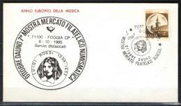 ITALIA - FDC - 1985 - ANNO EUROPEO DELLA MUSICA - 6. 1946-.. Repubblica