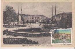 """Vittorio Veneto - Giardini Pubblici E Municipio  """"MAXIMUM CARD"""" - Cartoline"""