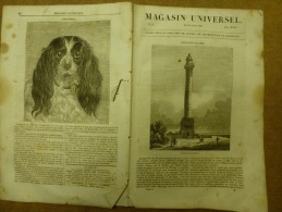 28 Nov. 1833 MAGASIN UNIVERSEL: Un Vaisseau (navire) Frappé Par La Foudre;VENISE ;Paris Au 16e Siecle - Zeitungen