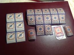 �sterreich ca. 1860-1910 Lot Fiskalmarken Siegelmarken Vignetten etc.(fiscals revenue stamps Austria Steuermarken)