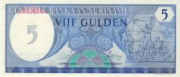 BILLET # SURINAM # 5 GULDENS  # 1982  # PICK 35 # NEUF # - Surinam
