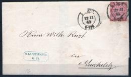 Briefhülle 1869 Aus Kiel Nach Neustrelitz - Schleswig-Holstein