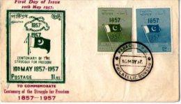 PAKISTAN 1957- CENTENAIRE 1857-1957 - Briefe