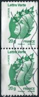 Pays : 189,07 (France : 5e République)  Yvert Et Tellier N° : 4597 (o) En Paire Verticale (roulette) - France