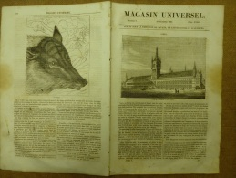 19 Déc. 1833 MAGASIN UNIVERSEL: Taaje Mahal à AGRA ; Hôtel De Ville D´Ypres; Loup De Buffon; Gawnpore - Kranten