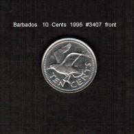 BARBADOS    10  CENTS   1995  (KM # 12) - Barbades