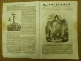 26 Déc. 1833  MAGASIN UNIVERSEL: Abbaye De Jumièges; Théâtre Chinois De Pékin; Homme Volant; HEIDELBERG - Kranten