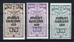"JO5/7 MNH** 1923 - Postpakketzegels Met Opdruk """"JOURNEAUX - DAGBLADEN 1928"""" - Newspaper"