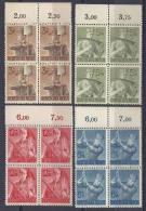 IIIeReich -  YT N° 769-772 ** Bloc De 4 / Arbeitsdienst Mi.Nr. 850-853** 4er Block - Unused Stamps
