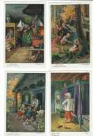 Conte, Fables & Légendes // Bruder Grimm ( Lot De 8 Cartes) Heinzel Et Gretel, Le Petit Chaperon Rouge - Contes, Fables & Légendes