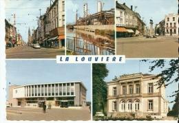 CP  BELGIQUE   LA  LOUVIERE   Rue  Albert  1er - Usines  Boel - Place  De  La  Louve - Gare  Centrale - Belgium