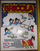 PUB PUBLICITE GLACE OLA ROCKET BRICOLA NOUVEAU JEU A ASSEMBLER - Vieux Papiers