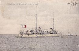 "Al - Cpa ARCACHON - ""Le Flamberge"" Escadre Du Nord  (navire De Guerre) - Arcachon"