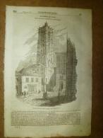 23 Jan. 1834  MAGASIN UNIVERSEL: Tour-St-Jacques-de-la- Boucherie ;Funérailles En CHINE;Puris Du BRESIL;Grèce;CASOAR - Kranten