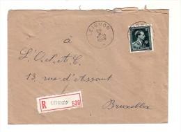 Belgique Recommandé Leignon 1946 - België