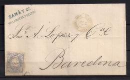 1870, EDIFIL 107, 50 MILÉSIMAS, VILANOVA Y  GELTRÚ, FECHADOR - 1870-72 Regencia