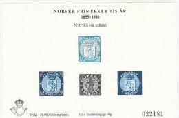 NORVEGIA NORSKE 1980 PROVA E RISTAMPA - Blocks & Kleinbögen