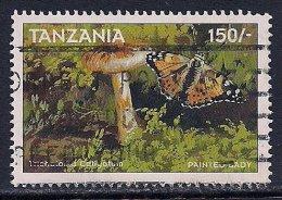 Tanzania ~ 1998 ~ Fungi & Butterfly  ~ Used - Tanzania (1964-...)