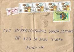 Senegal 1992 Ziguinchor Basketball Registered Cover - Senegal (1960-...)