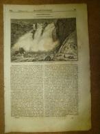 20 Fev.1834  MAGASIN UNIVERSEL: Cataractes Du Puppanassum INDE; Vandales Et Visighots;Mosquée De Sainte-Sophie;Bédouins - Kranten