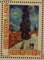 Persoonlijke December Postzegel D12c Mobiele OKI Printer Postaumaat 2013 Vincent Van Gogh Country Road In Provence - Pays-Bas