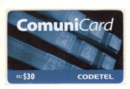 REPUBLIQUE DOMINICAINE CARAIBES PREPAYEE 30$ COMMUNICARD CODETEL