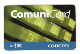 REPUBLIQUE DOMINICAINE CARAIBES PREPAYEE 50$ COMMUNICARD CODETEL