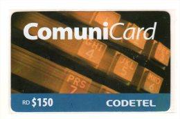 REPUBLIQUE DOMINICAINE CARAIBES PREPAYEE 150$ COMMUNICARD CODETEL