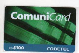REPUBLIQUE DOMINICAINE CARAIBES PREPAYEE 100$ COMMUNICARD CODETEL